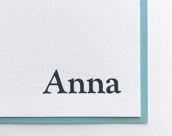 Personalized 50 Letterpress Note Cards Monogram Stationary, Personalized Stationery, Wedding, New Home, Birthday, New Baby Gift