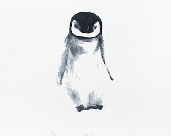 Pablo the Penguin Letterpress Art Print