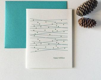 Modern Letterpress Simple Letterpress Christmas Holiday Cards - Twinkle Twinkle - Set of 12 Blank Inside