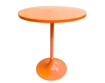 Mid Century Orange Tulip Table ~ Small Tulip Style Plant Stand, Night  Stand, Side Table ~ Small Metal Table