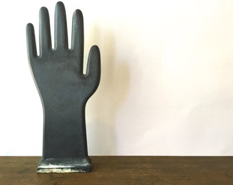 Vintage French Glove Mold~ Hand sculpture~ Ring Display ~ Industrial decor