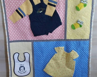 Custom Baby Clothes Quilt
