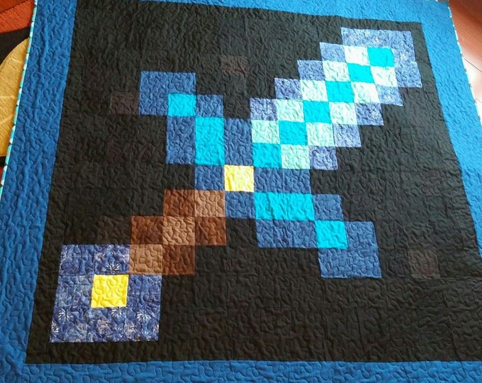 Minecraft Sword Quilt