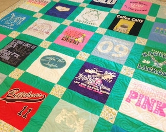 T-Shirt Quilt - Order By-the-Block TShirt Quilt - Custom Order