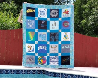 20 Block TShirt Quilt Full Size