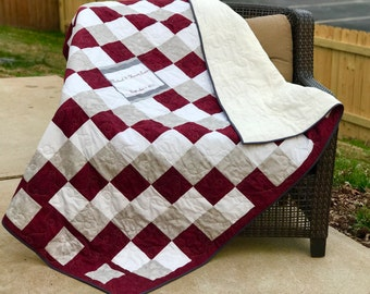 Custom Signature Quilt with Photo on fabric Full Size Guest Book