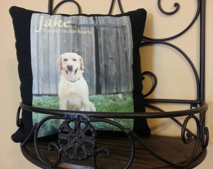 Pet Memorial Pillow for Dog or Cat or any animal size 12in x 12in