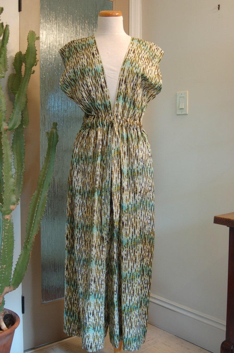 cotton african print v-neck romper/jumpsuit image 0