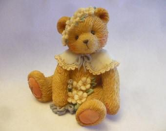 Vintage Cherished Teddies H Personalized Lapel Pin Vintage Teddy Bear Jewelry Enesco Corporation Birthday Gift Friendship Gift