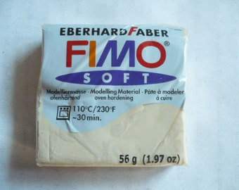 Fimo Soft, Eberhard Faber, Polymer Clay Block, 56 grams, 1.97 oz, Never Used, Original Packaging, Polymer Clay Supplies, Fimo, Sculpey