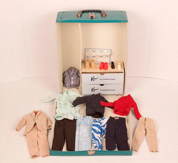 - ken cas 1961 mattel ken étui étui étui accessoires vintage rétro - semblant jouer vêteHommes ts chaussures cde5b7