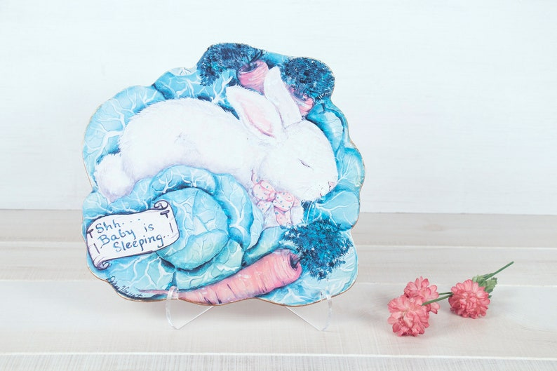 """Pink /""""Sleeping Baby/"""" Wall Plaque It/'s a Good Life Wood"""