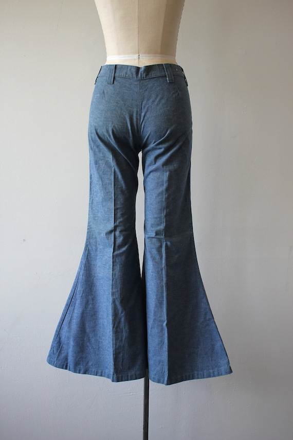 vintage 1970s jeans / 70s flared denim / 70s high… - image 6