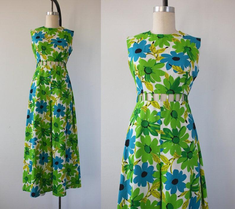 d1cf01d3d466 Vintage 1960s jumpsuit   60s floral print jumpsuit   60s