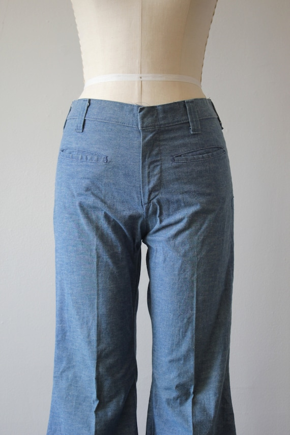 vintage 1970s jeans / 70s flared denim / 70s high… - image 4