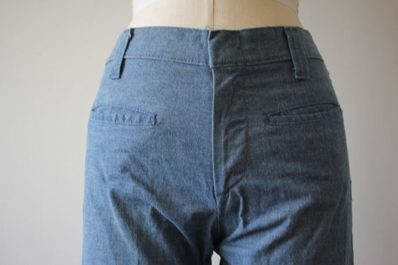vintage 1970s jeans / 70s flared denim / 70s high… - image 7
