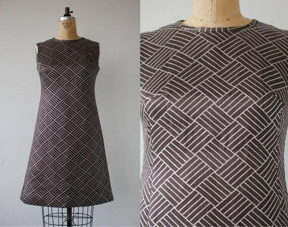 vintage 1960s dress / 60s silver metallic dress /