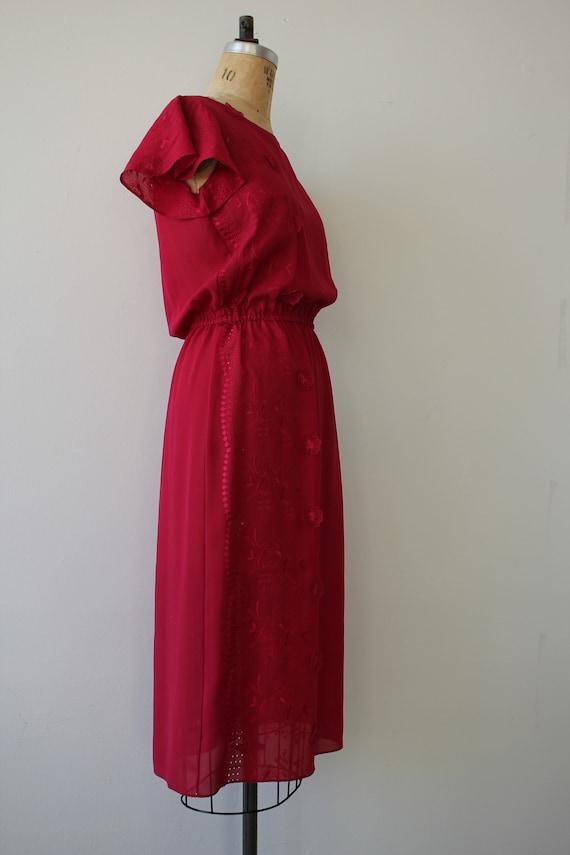 vintage 1970s dress / 70s raspberry dress / 70s e… - image 6