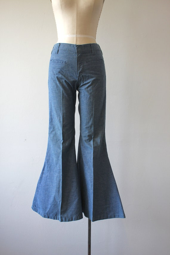 vintage 1970s jeans / 70s flared denim / 70s high… - image 2