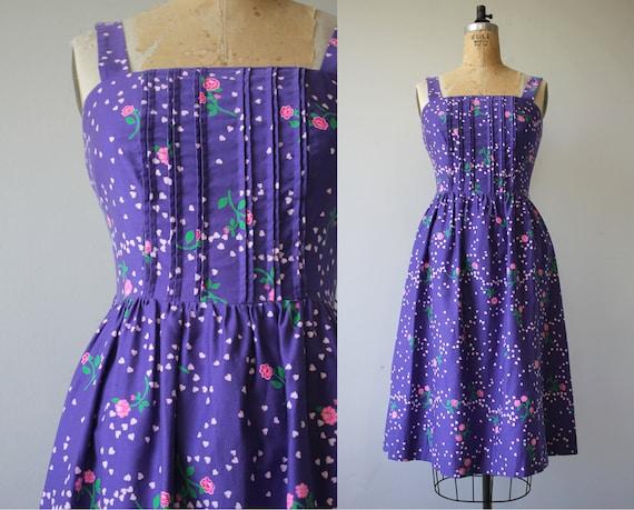 vintage 1970s dress / 70s floral dress / 70s Malia