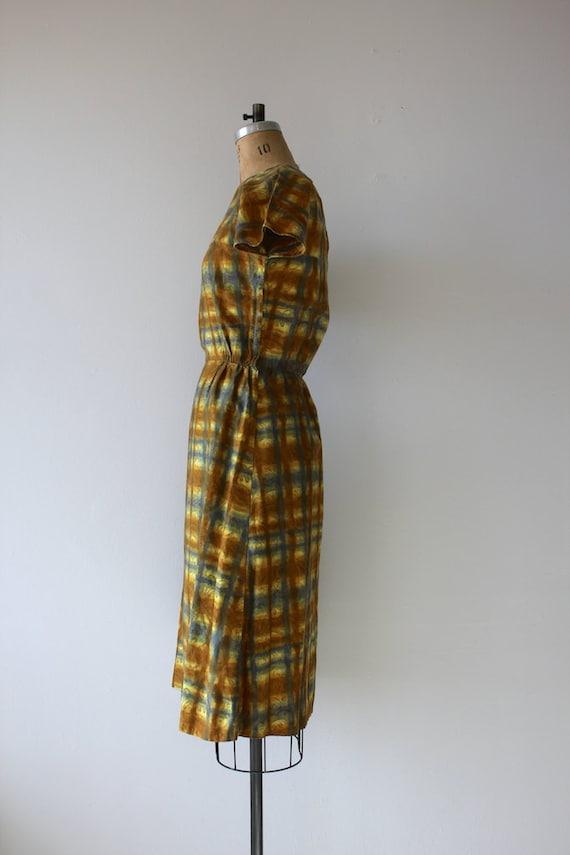 1950s vintage dress / 50s golden plaid dress / 50… - image 4