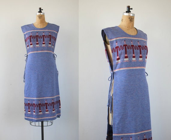 vintage 1970s dress / 70s sweater dress / 70s dres