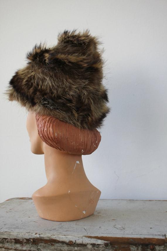 vintage 1960s hat / 60s fur cap / 60s fur hat / r… - image 4