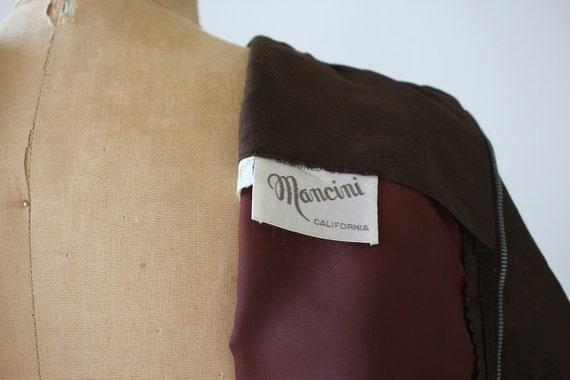 med m dress medium 1960s dress 60s 1960s silk brown dress brown size vintage sheath S7FyPqgq