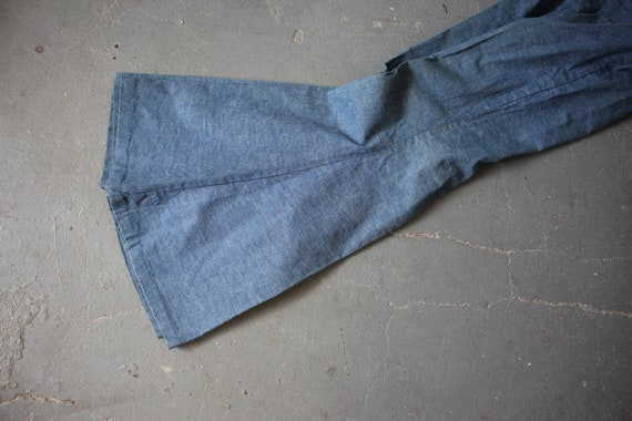 vintage 1970s jeans / 70s flared denim / 70s high… - image 9