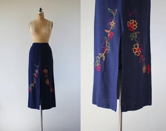 vintage 1960s skirt / 60s maxi skirt / 60s rainbow