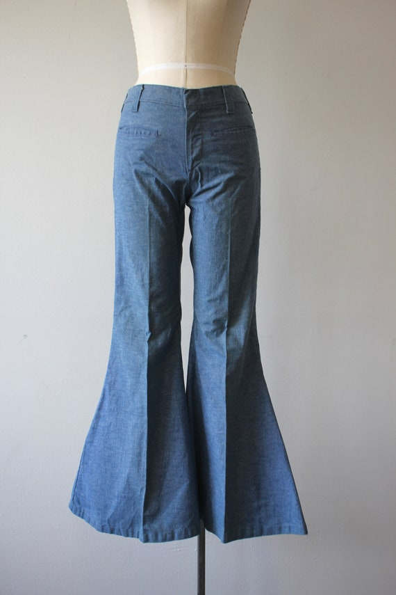 vintage 1970s jeans / 70s flared denim / 70s high… - image 3