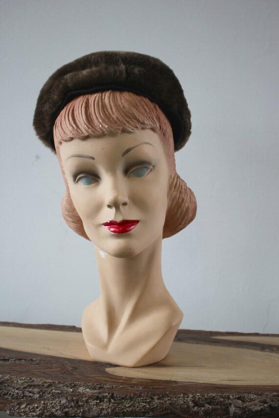 vintage 40s hat / 1940s Sheared Beaver Hat / 40s … - image 2