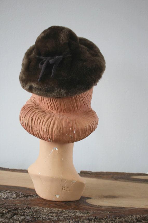 vintage 40s hat / 1940s Sheared Beaver Hat / 40s … - image 4