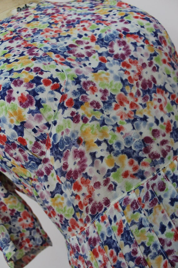floral sz dress large XL dress blossom 30s size 30s plus vintage spring extra dress 1930s dress tHPa7