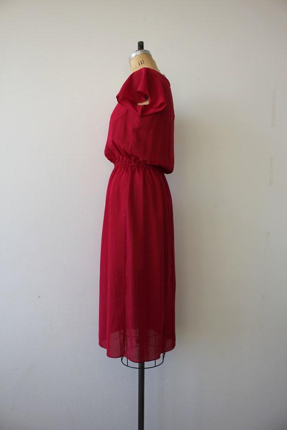 vintage 1970s dress / 70s raspberry dress / 70s e… - image 5