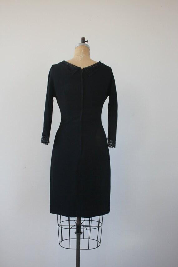 vintage 1950s dress / 50s black dress / 50s LBD /… - image 5