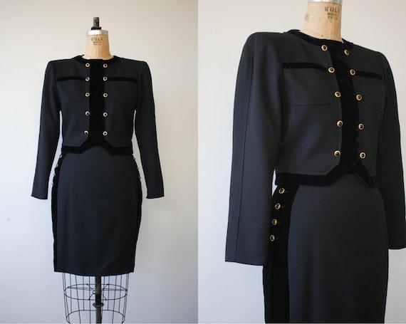 vintage 1980s suit / 80s emanuel ungaro suit / 80s