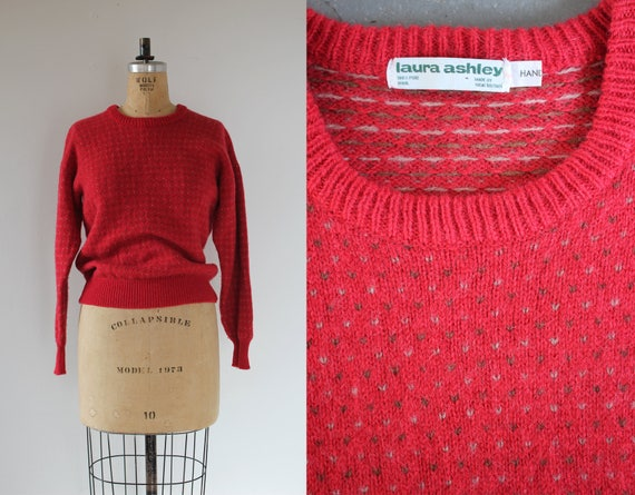 vintage 1980s sweater / 80s pull over sweater / 80