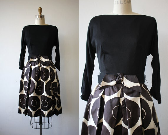 vintage 1960s dress / 60s party dress / 60s black