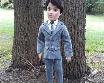 """Tweed Suit for Cissy's Beau,  21"""" Man Doll Clothes fits Mr. Alexander or Rhett"""