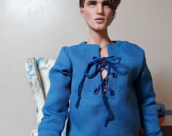 2 Piece Blue Cotton Casual Outfit made to fit Kinsman or Matt Men dolls