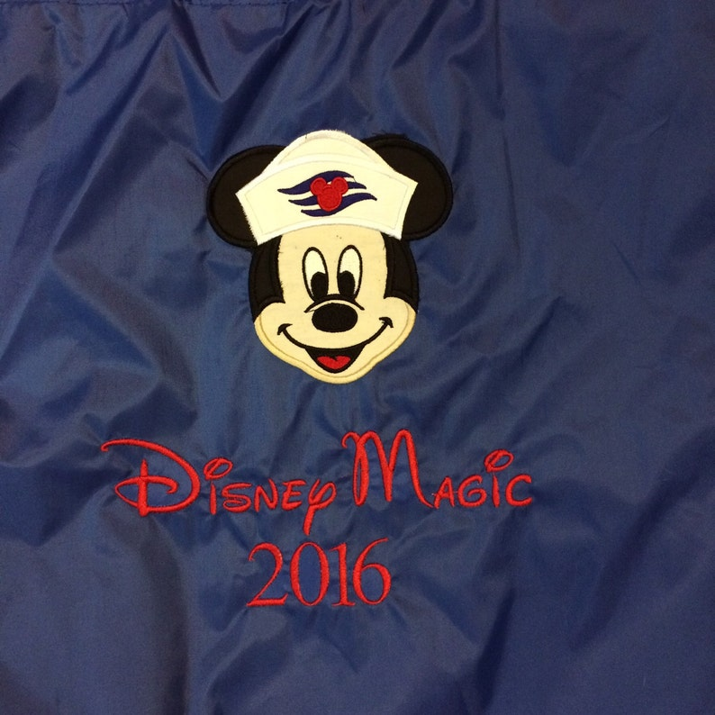 Mickey Disney cruise Cinch Backpack