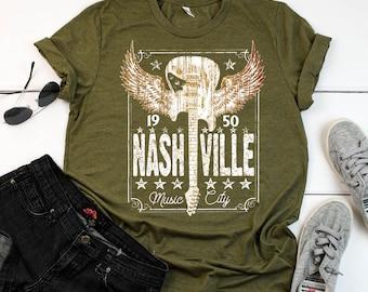 Nashville Music City USA Shirt Country Music Gift Short-Sleeve Unisex T-Shirt
