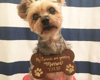 My Parents Are Getting Married Dog Sign - Wedding Dog Sign, Wedding Sign, Wooden Wedding Sign, Dog Sign, Dog Ring Bearer Sign