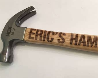 Personalized Engraved Hammer - For Him, For Dad, Husband Gift, Groomsmen Gifts, Father's Day, Retirement Gift, Best Man Gift