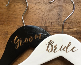 Bride and Groom Hangers Set - Set of 2