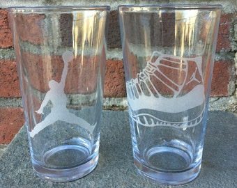 Jordan 11 Sneaker and Jumpman Pint Glasses - Set of 2