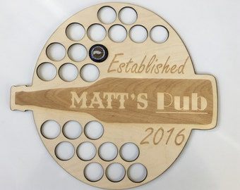 Personalized Beer Bottle Cap Holder Sign - Groomsmen Gifts, Groomsman Gift, Best Man Gift, For the Groom, For Him