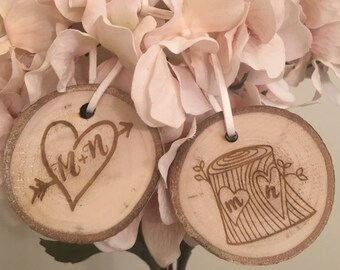 Tree Slice Ornament - Wood Slice Ornament, Tree Carving Ornament, Christmas Ornament, Christmas Gift, Stocking Stuffer with Gift Box Option