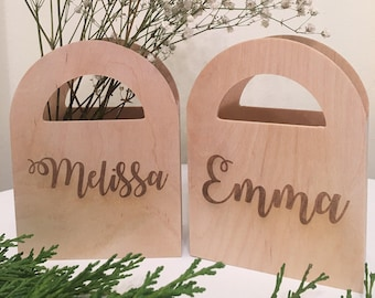 Custom Wood Gift Bags- Personalized, Custom Engraved, Monogrammed, Wooden Gift Bag, Gift Bags, Custom Gift Bags, Party Favors, Custom Favors